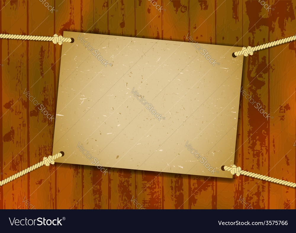 Rough card hanged with the ropes vector | Price: 1 Credit (USD $1)