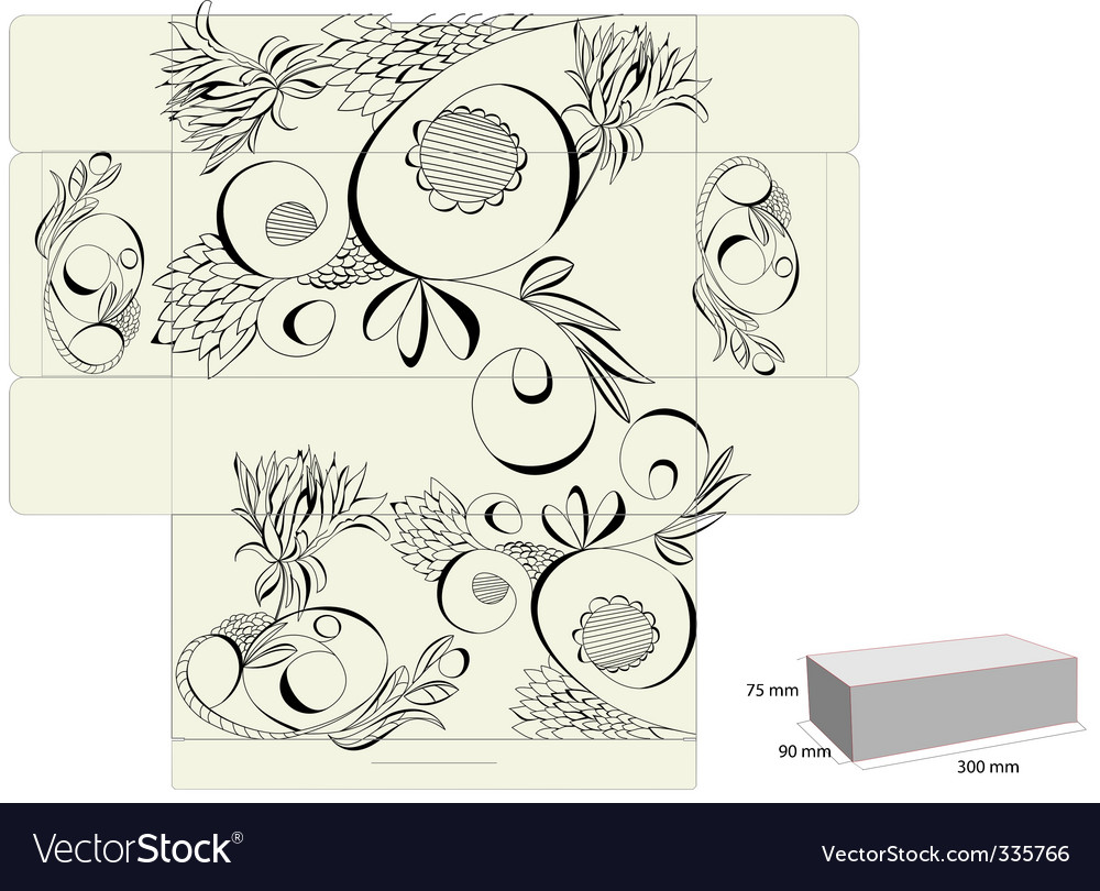 Template for box vector | Price: 1 Credit (USD $1)
