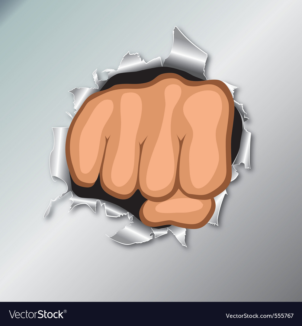 Clenched fists vector | Price: 3 Credit (USD $3)