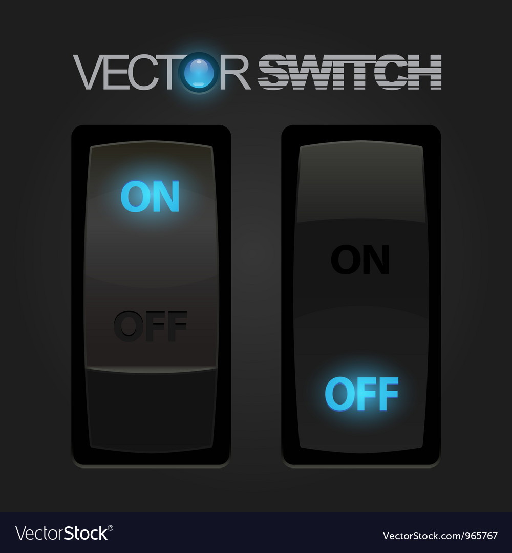 Cool realistic toggle switch vector | Price: 1 Credit (USD $1)