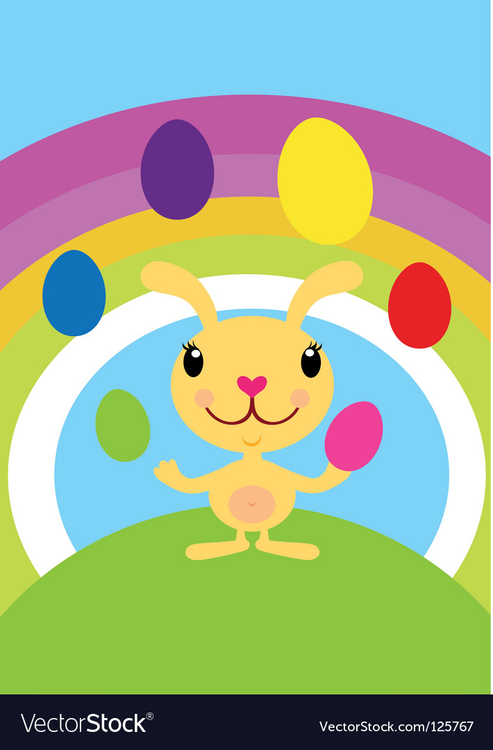 Easter bunny juggler vector | Price: 1 Credit (USD $1)