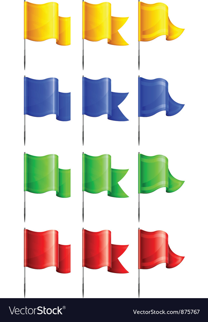 Flags four colors three options vector | Price: 1 Credit (USD $1)