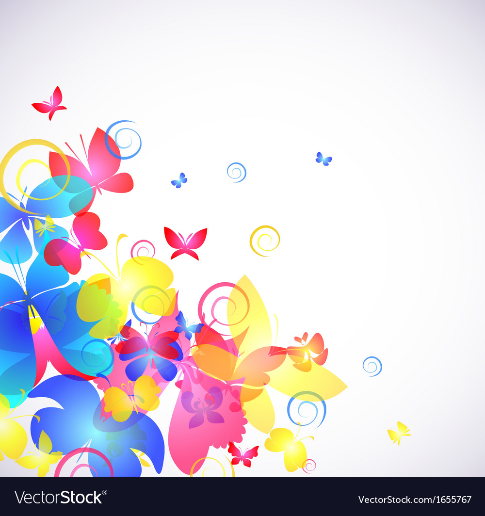 Glowing abstract background with butterfly vector | Price: 1 Credit (USD $1)