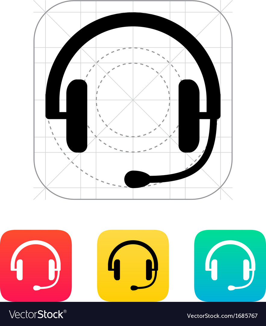 Headset icon vector | Price: 1 Credit (USD $1)