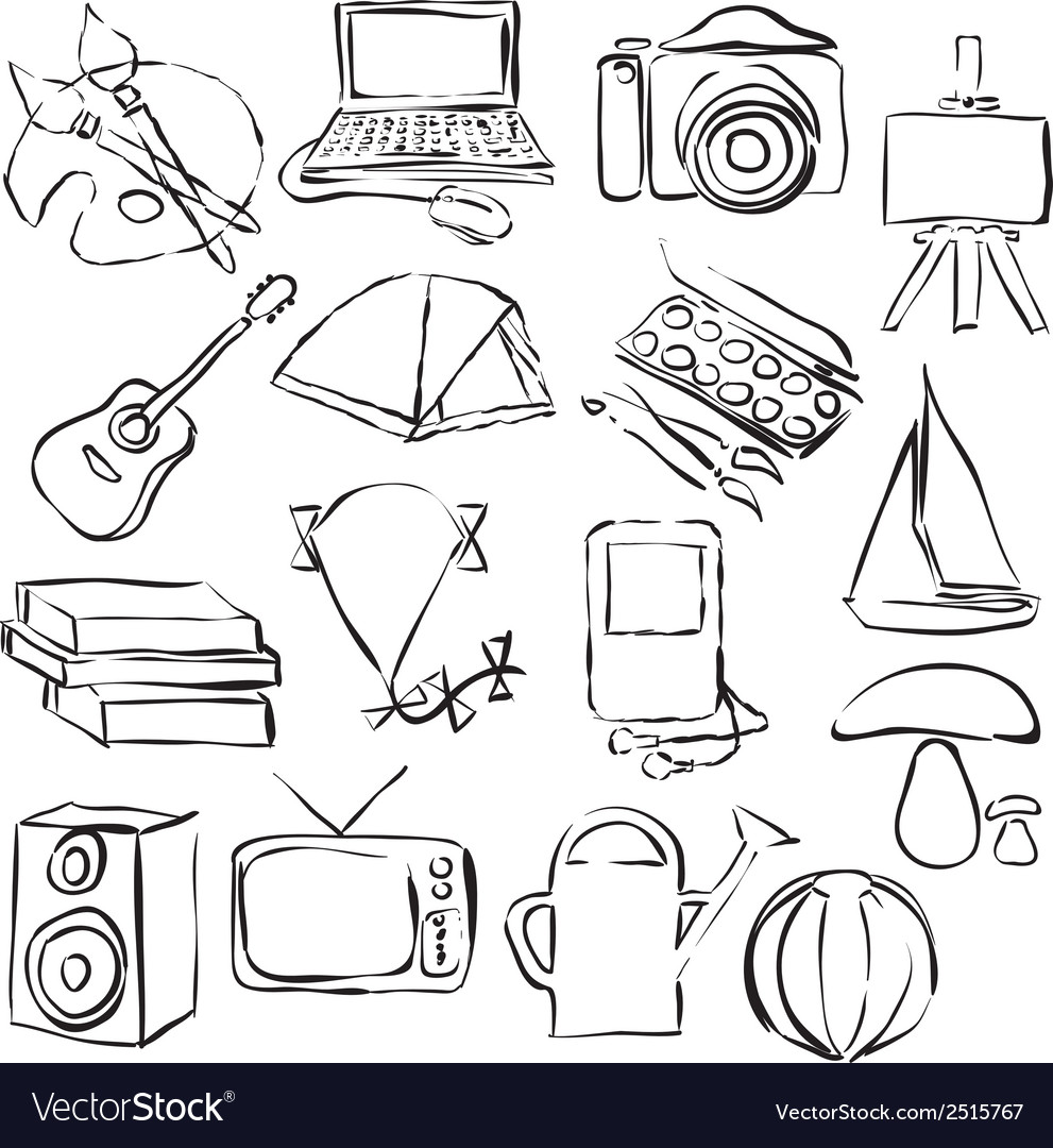 Hobby doodle images vector | Price: 1 Credit (USD $1)