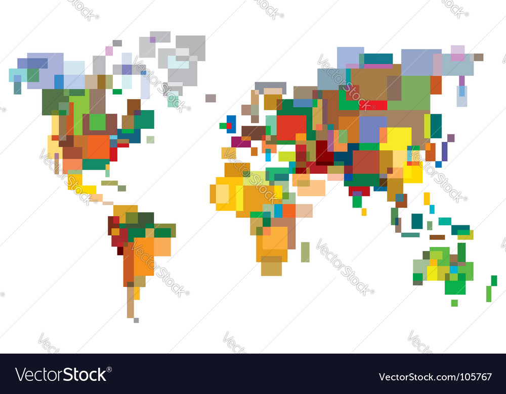 Many-colored world vector | Price: 1 Credit (USD $1)