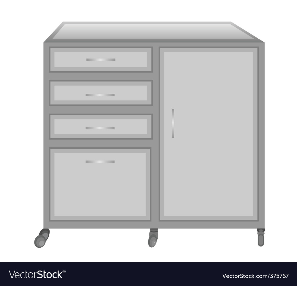 Medical table on castors vector | Price: 1 Credit (USD $1)