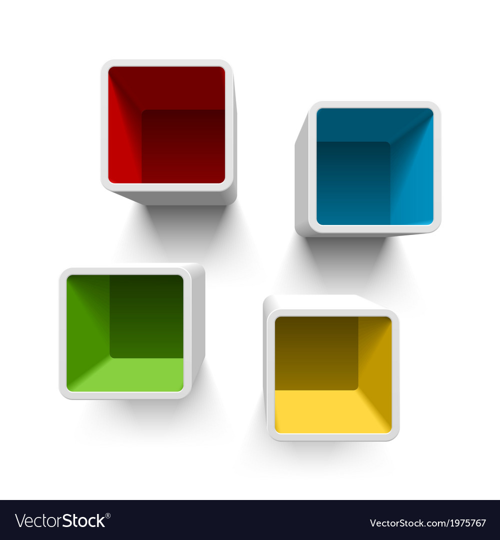 Retro cube shelves vector | Price: 1 Credit (USD $1)