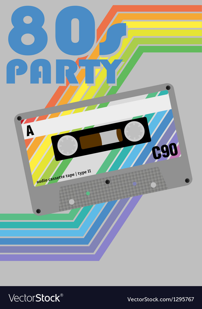 Retro party poster vector | Price: 1 Credit (USD $1)