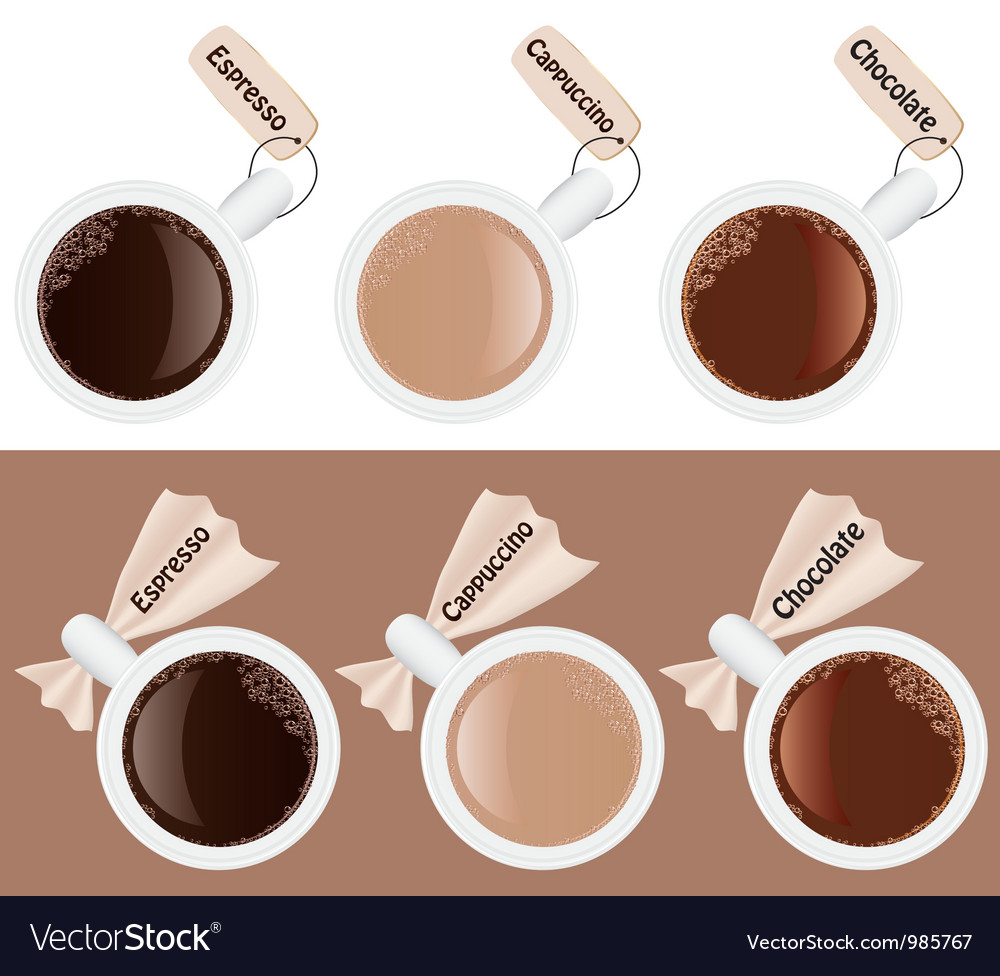 Six cups of coffee vector | Price: 1 Credit (USD $1)