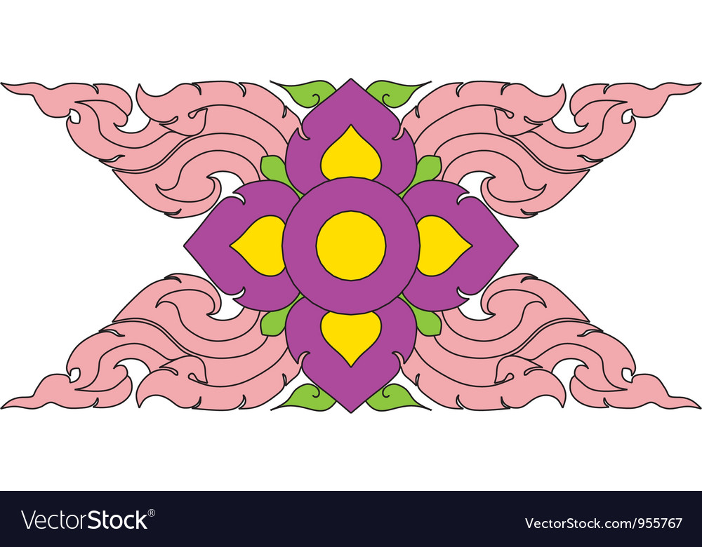 Thai pattern graphic vector | Price: 1 Credit (USD $1)
