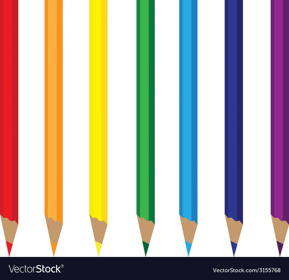 Colored pencils rainbow vector | Price: 1 Credit (USD $1)