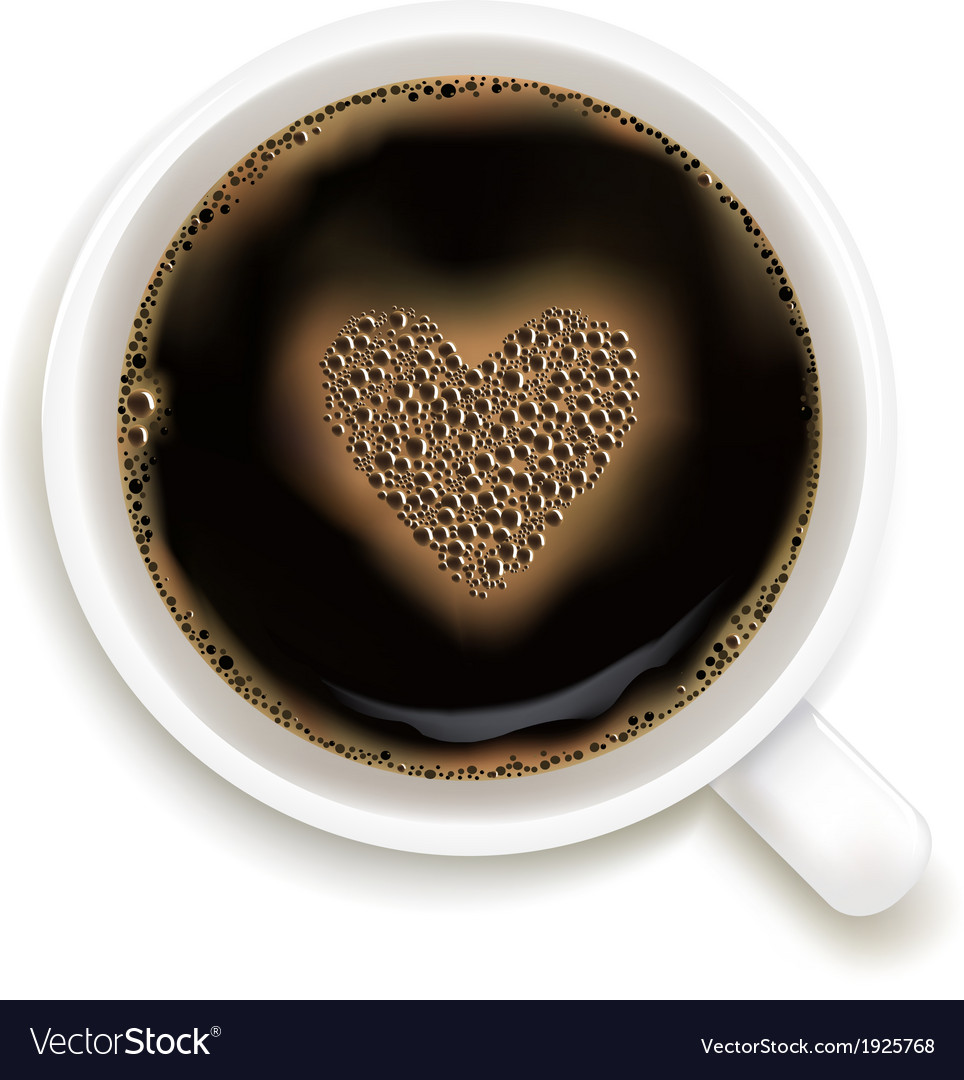 Cup of coffee with prediction of love vector | Price: 1 Credit (USD $1)