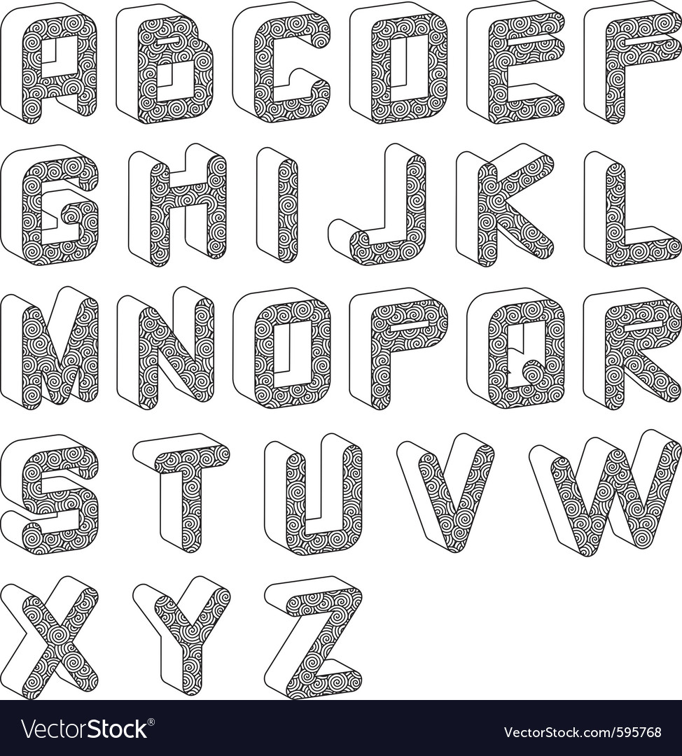 Funky alphabet vector | Price: 1 Credit (USD $1)