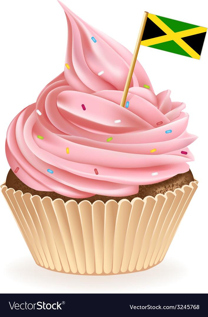 Jamaican cupcake vector | Price: 1 Credit (USD $1)