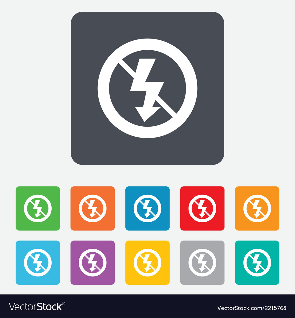 No photo flash sign icon lightning symbol vector | Price: 1 Credit (USD $1)