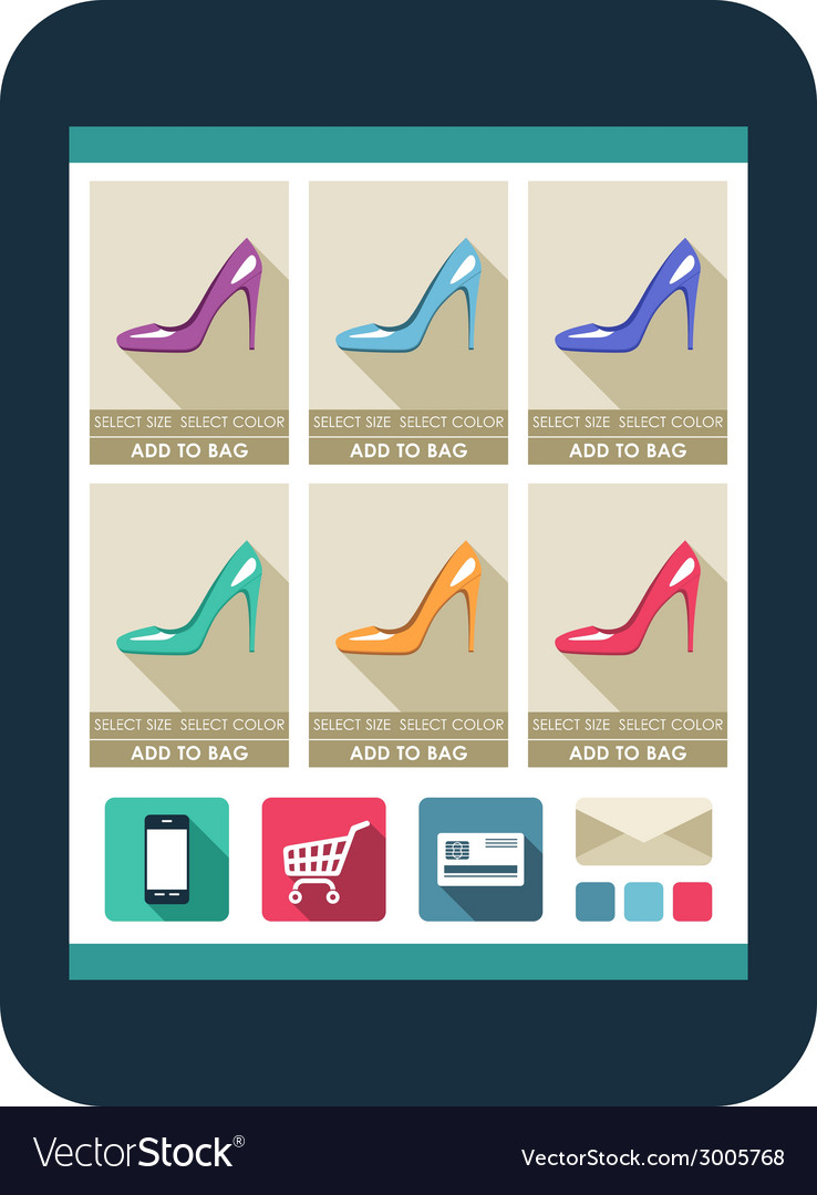Online shop on the tablet screen vector | Price: 1 Credit (USD $1)