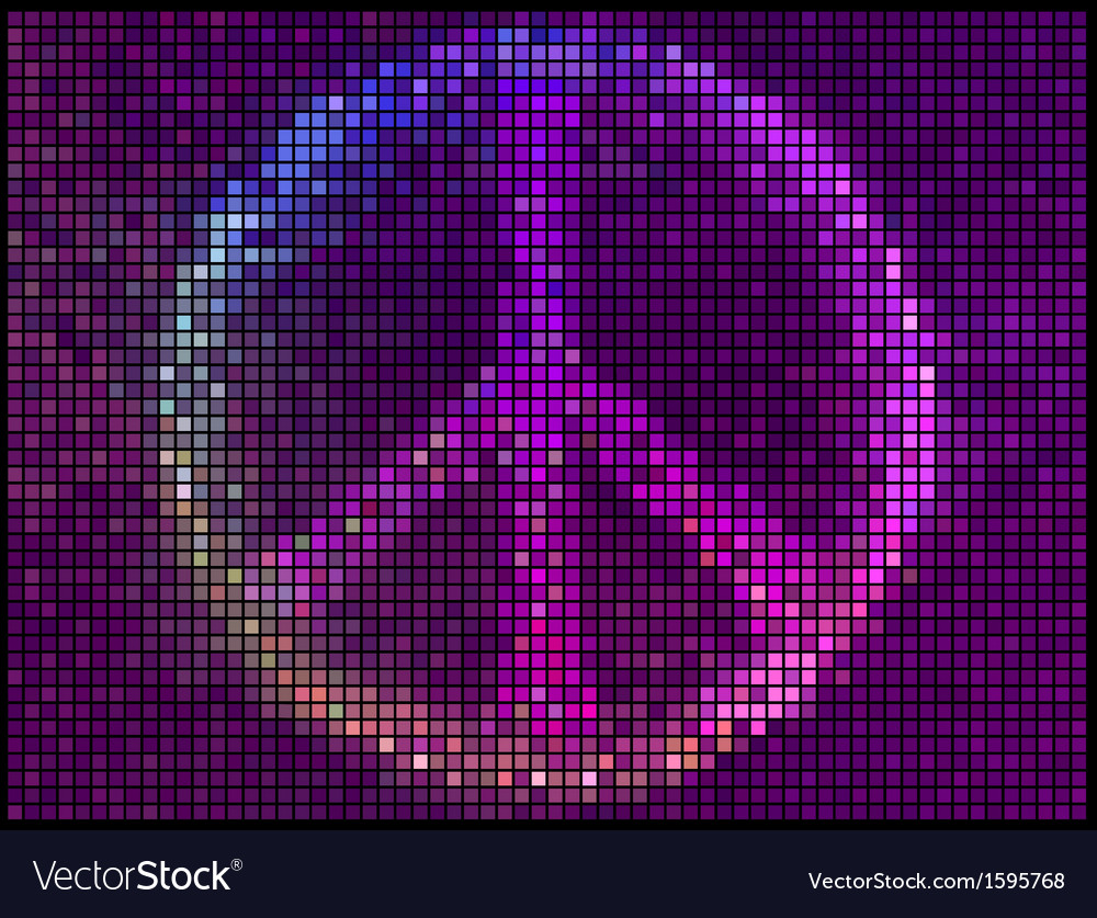 Peace sign multicolor abstract lights background vector | Price: 1 Credit (USD $1)