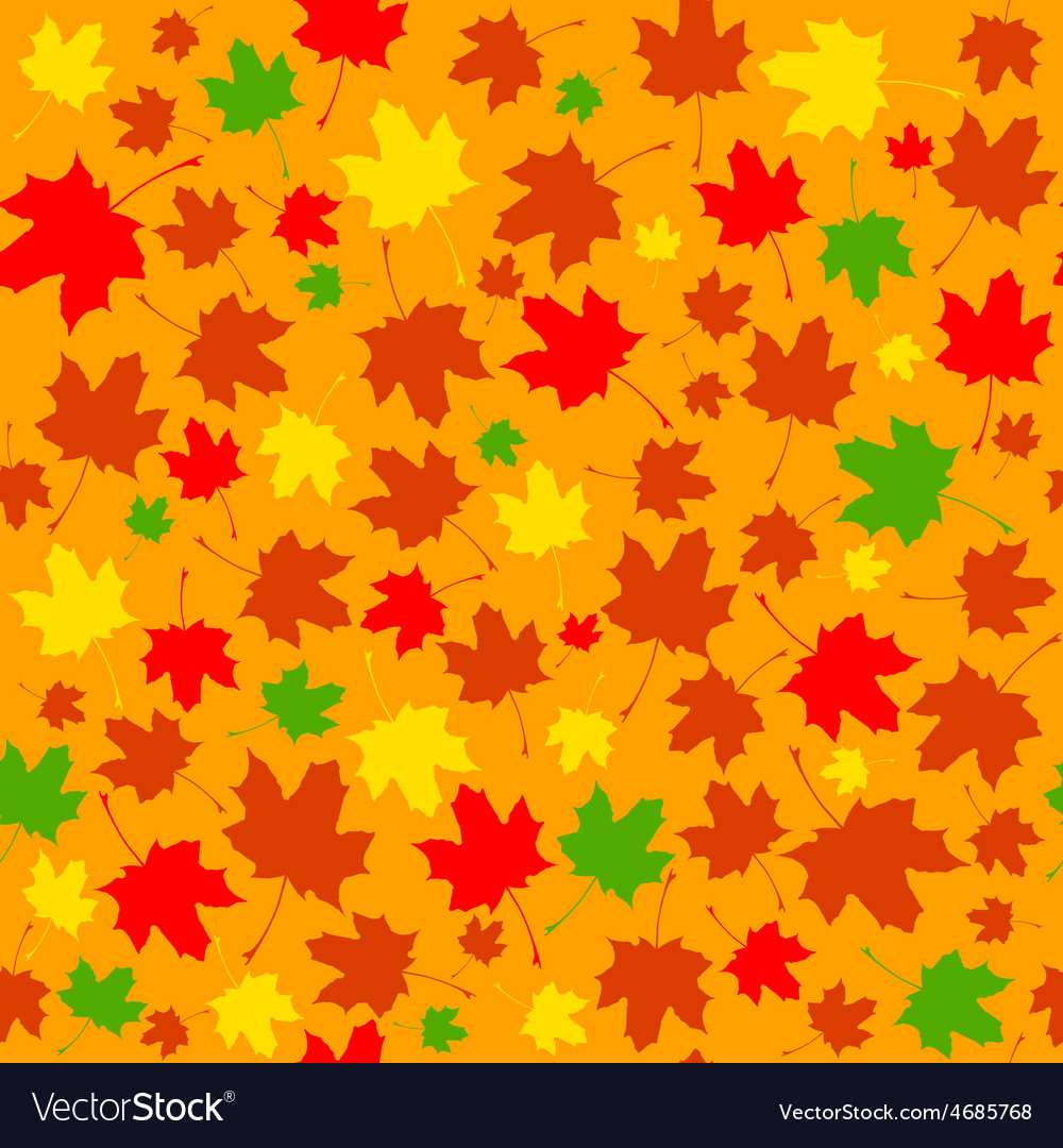 Seamless texture of leaves vector | Price: 1 Credit (USD $1)