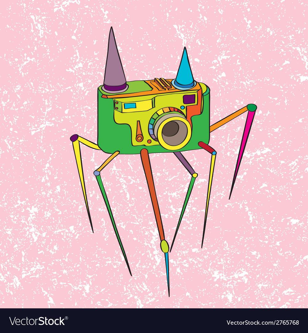 Strange camera vector | Price: 1 Credit (USD $1)