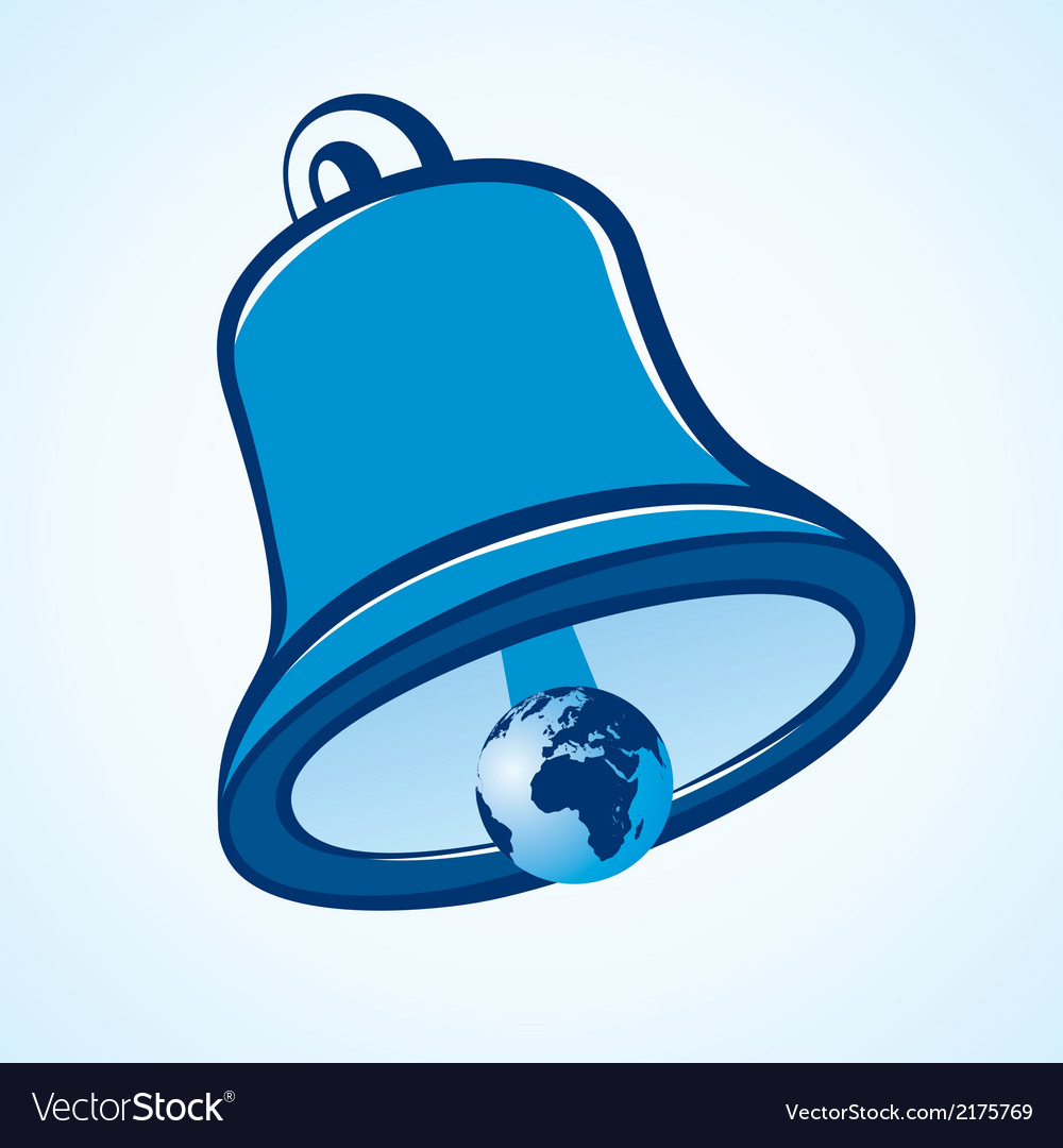 A bell with the world vector | Price: 1 Credit (USD $1)