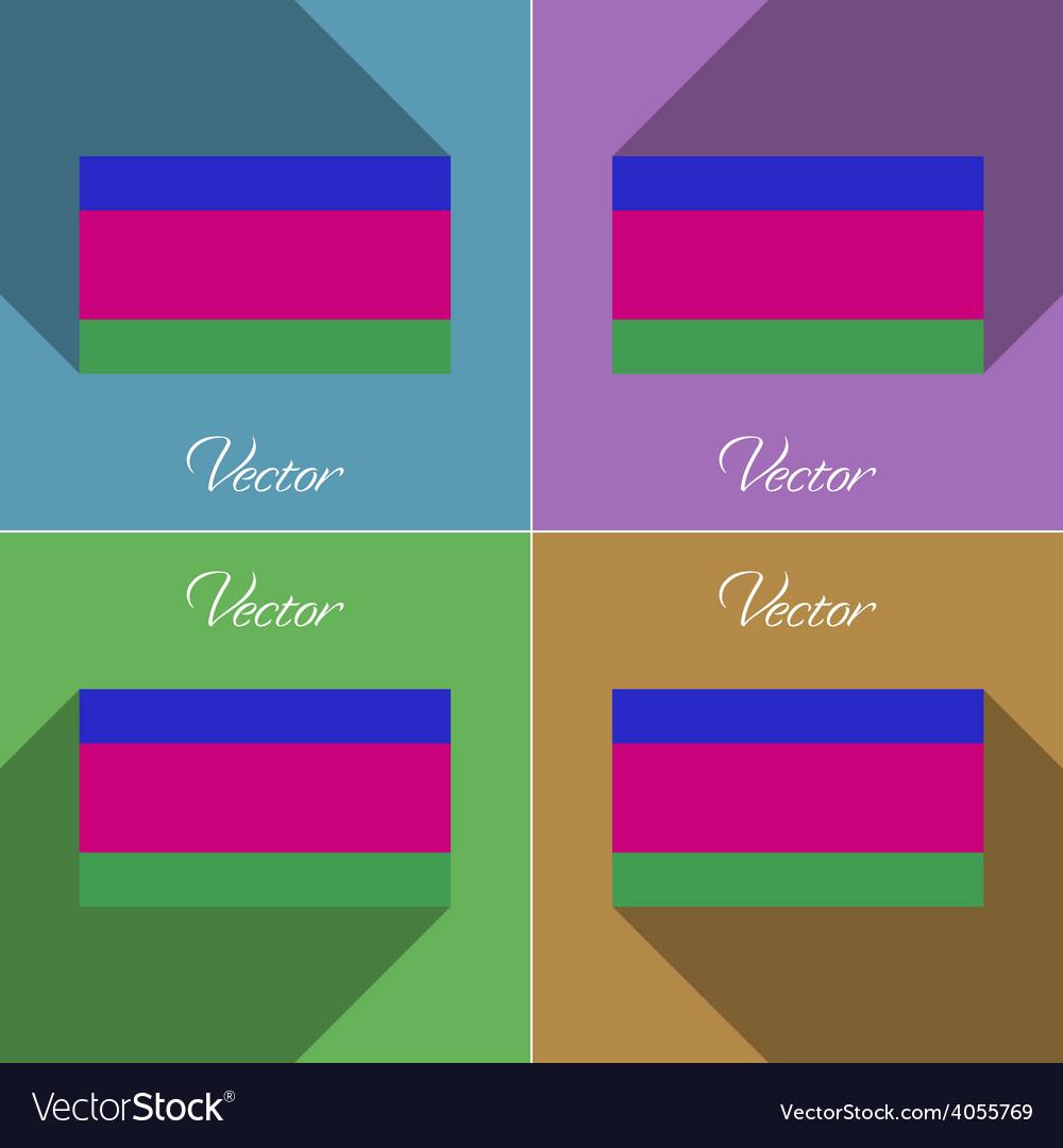 Flags kuban republic set of colors flat design and vector | Price: 1 Credit (USD $1)