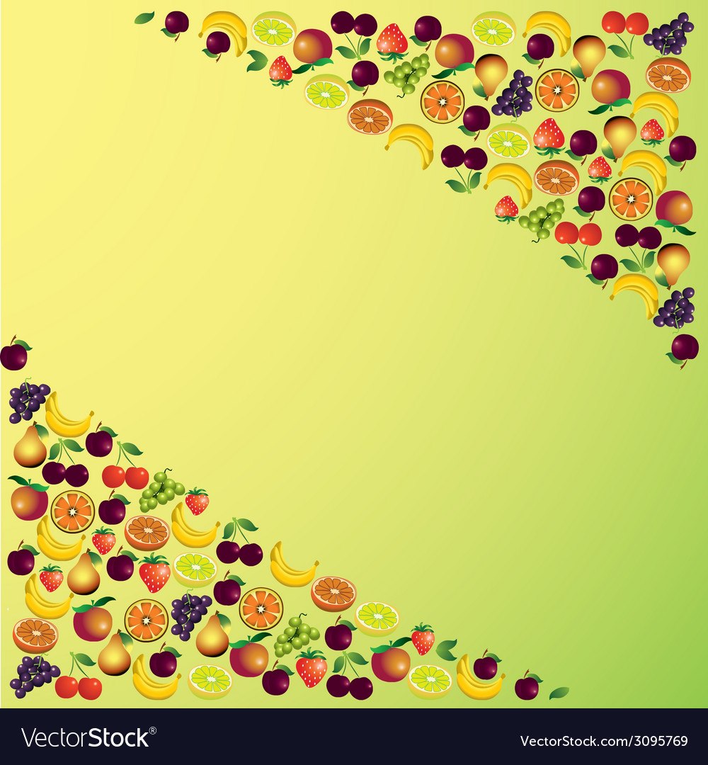 Fruits abstract composition different fruits icon vector | Price: 1 Credit (USD $1)