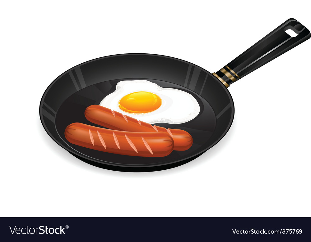 Frying egg breakfast appetizing vector | Price: 1 Credit (USD $1)