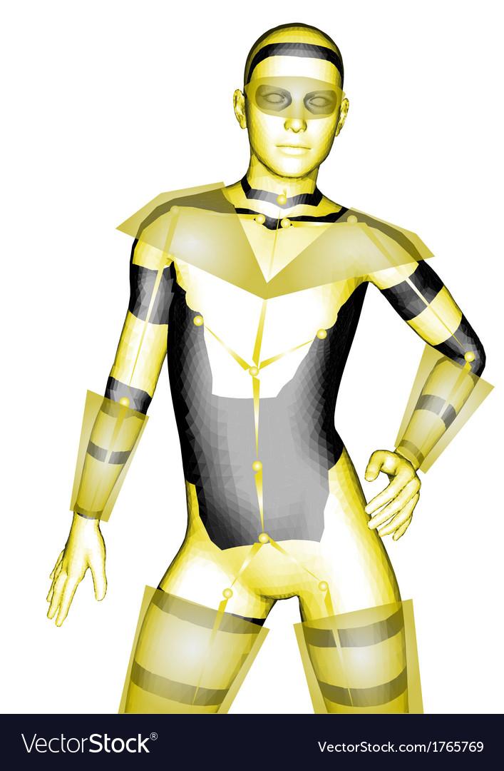 Humanoid robot vector | Price: 1 Credit (USD $1)