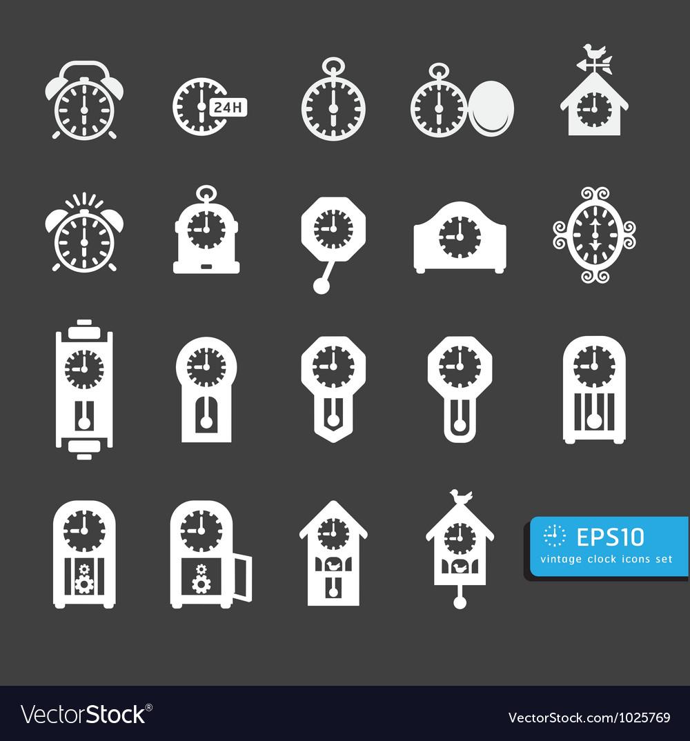 Icon clock black vector   Price: 1 Credit (USD $1)