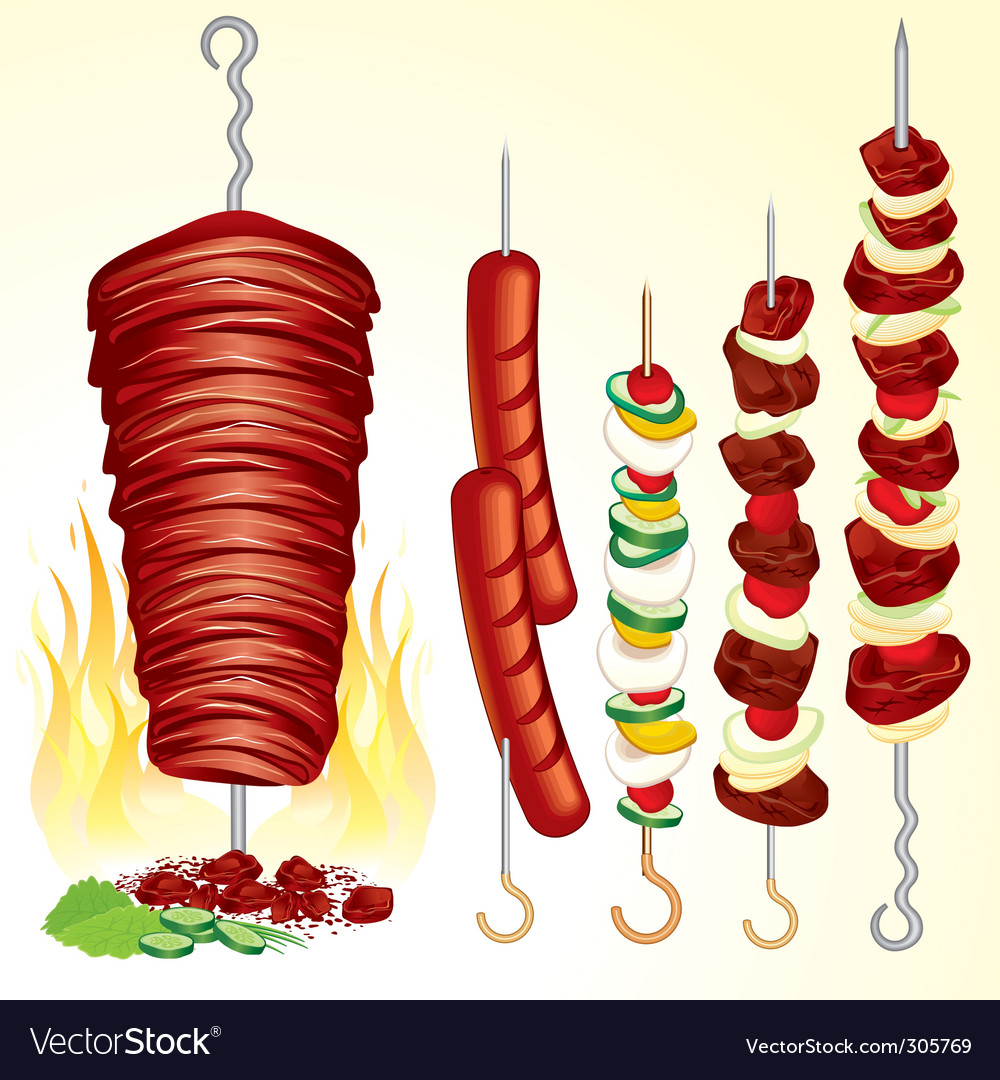 Kebabs vector | Price: 3 Credit (USD $3)