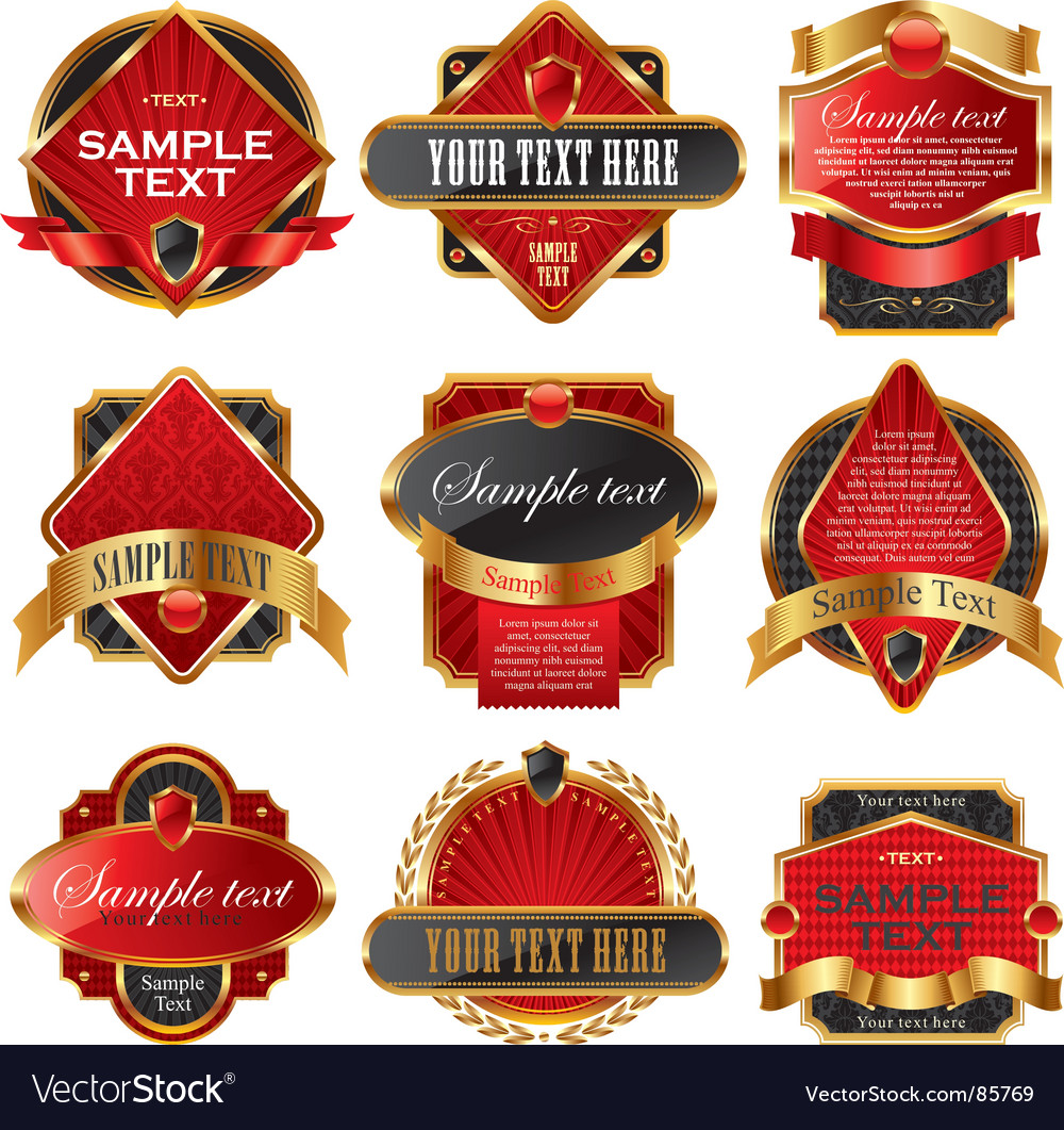 Luxury labels vector | Price: 1 Credit (USD $1)