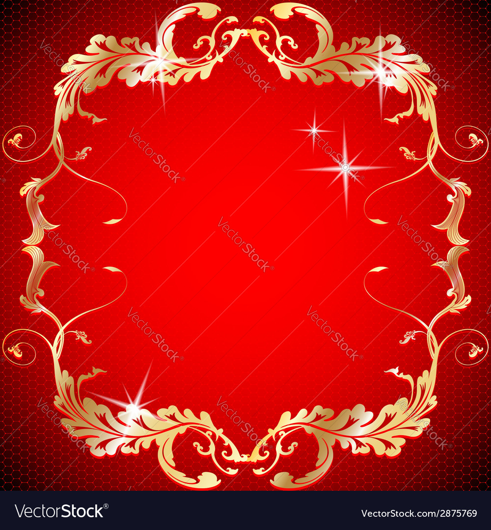 Ornate vintage floral frame design for invitations vector | Price: 1 Credit (USD $1)