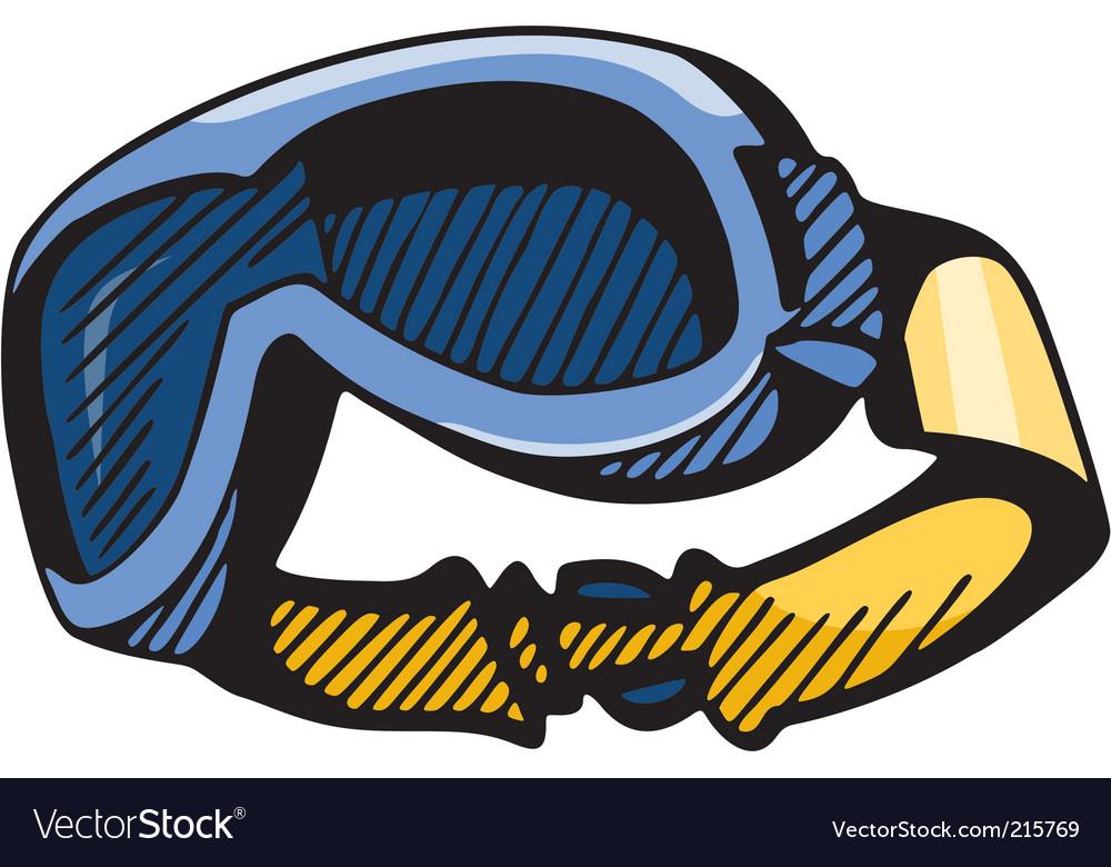 Snowboard goggles vector   Price: 1 Credit (USD $1)