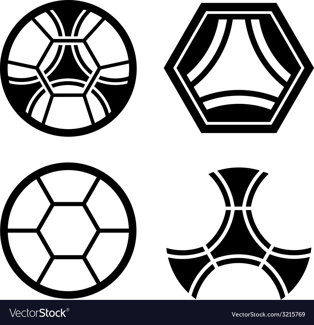 Soccer club emblem ball pattern vector | Price: 1 Credit (USD $1)
