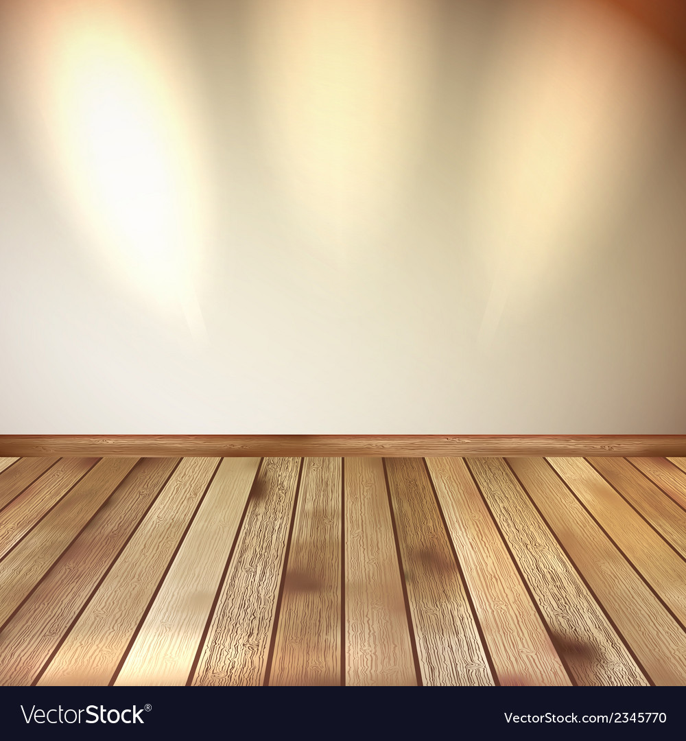 Beige wall with spot lights wooden floor eps 10 vector | Price: 1 Credit (USD $1)