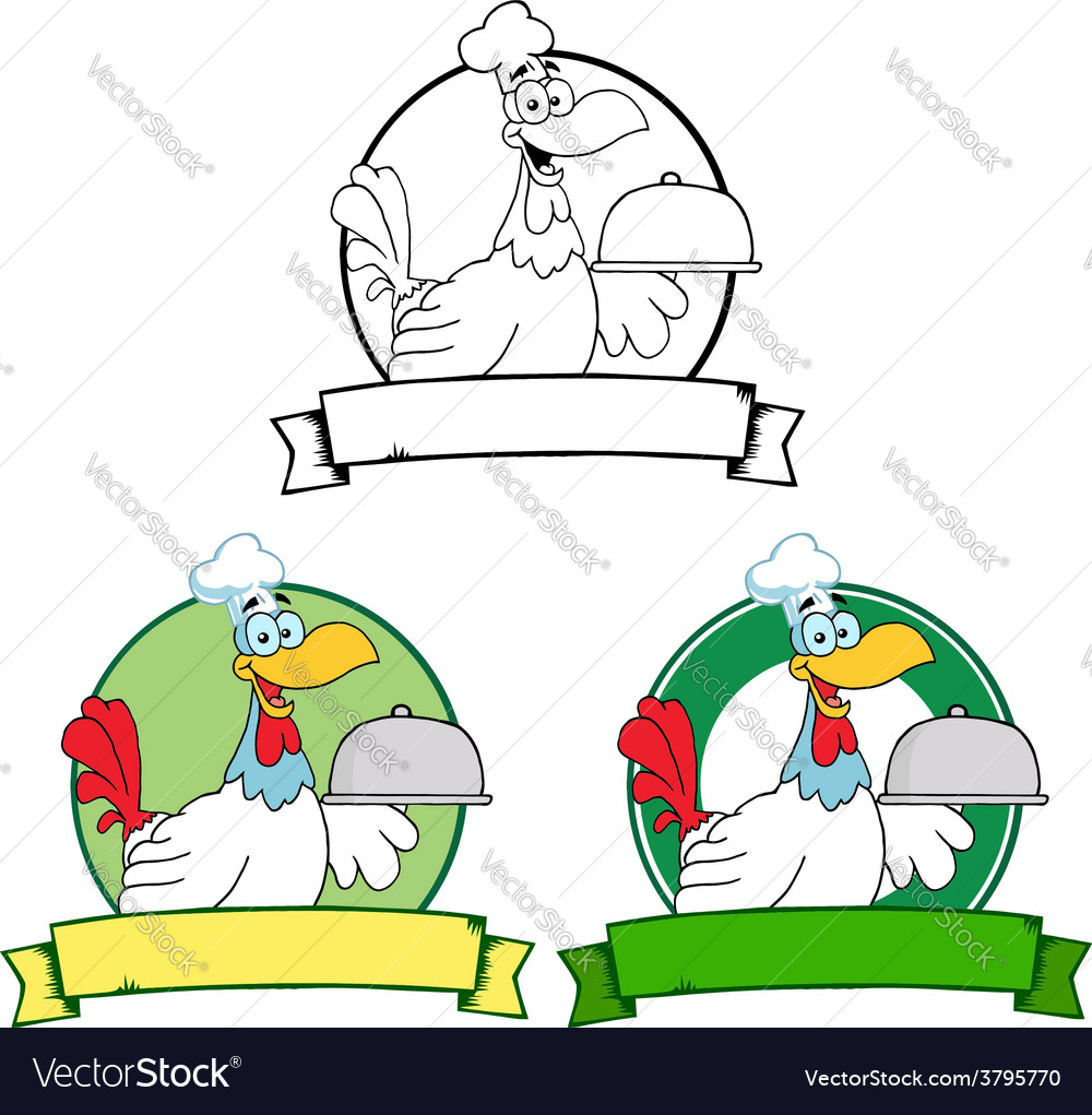 Cartoon chicken chef vector | Price: 1 Credit (USD $1)