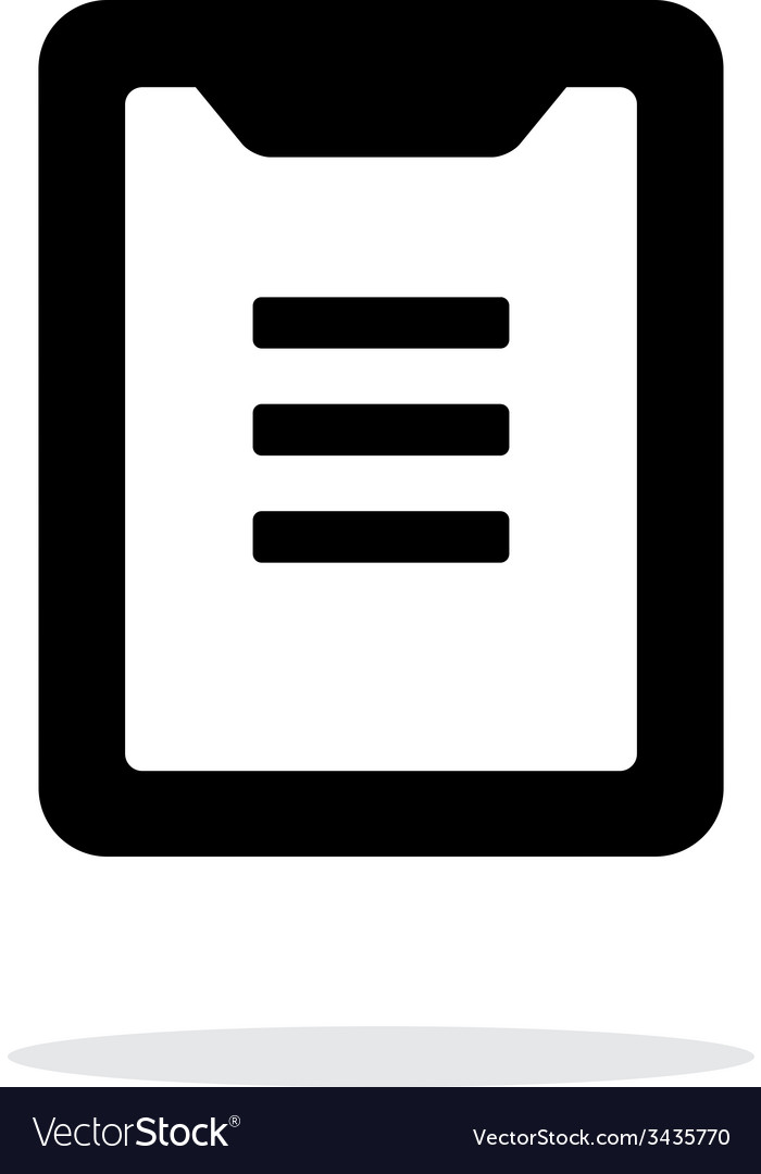 Clipboard simple icon on white background vector | Price: 1 Credit (USD $1)