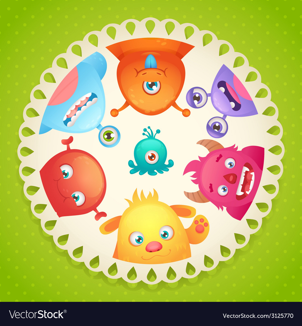 Cute monsters design vector | Price: 1 Credit (USD $1)