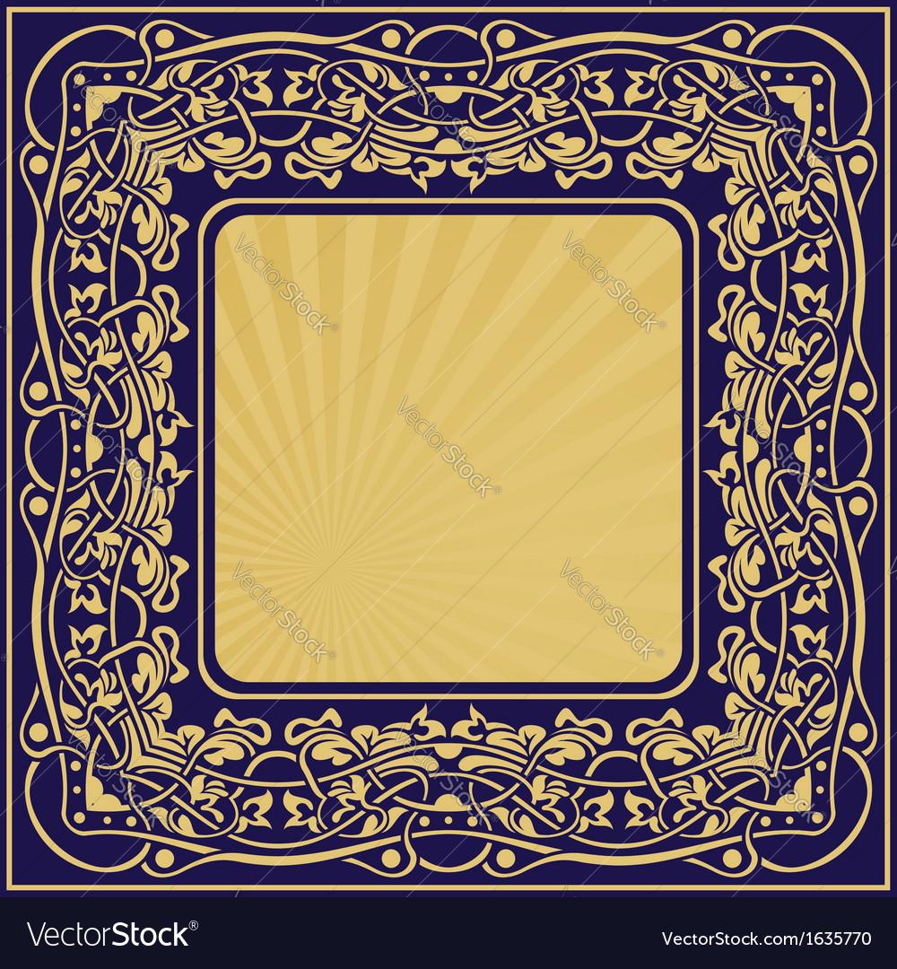 Frame fl border vector | Price: 1 Credit (USD $1)