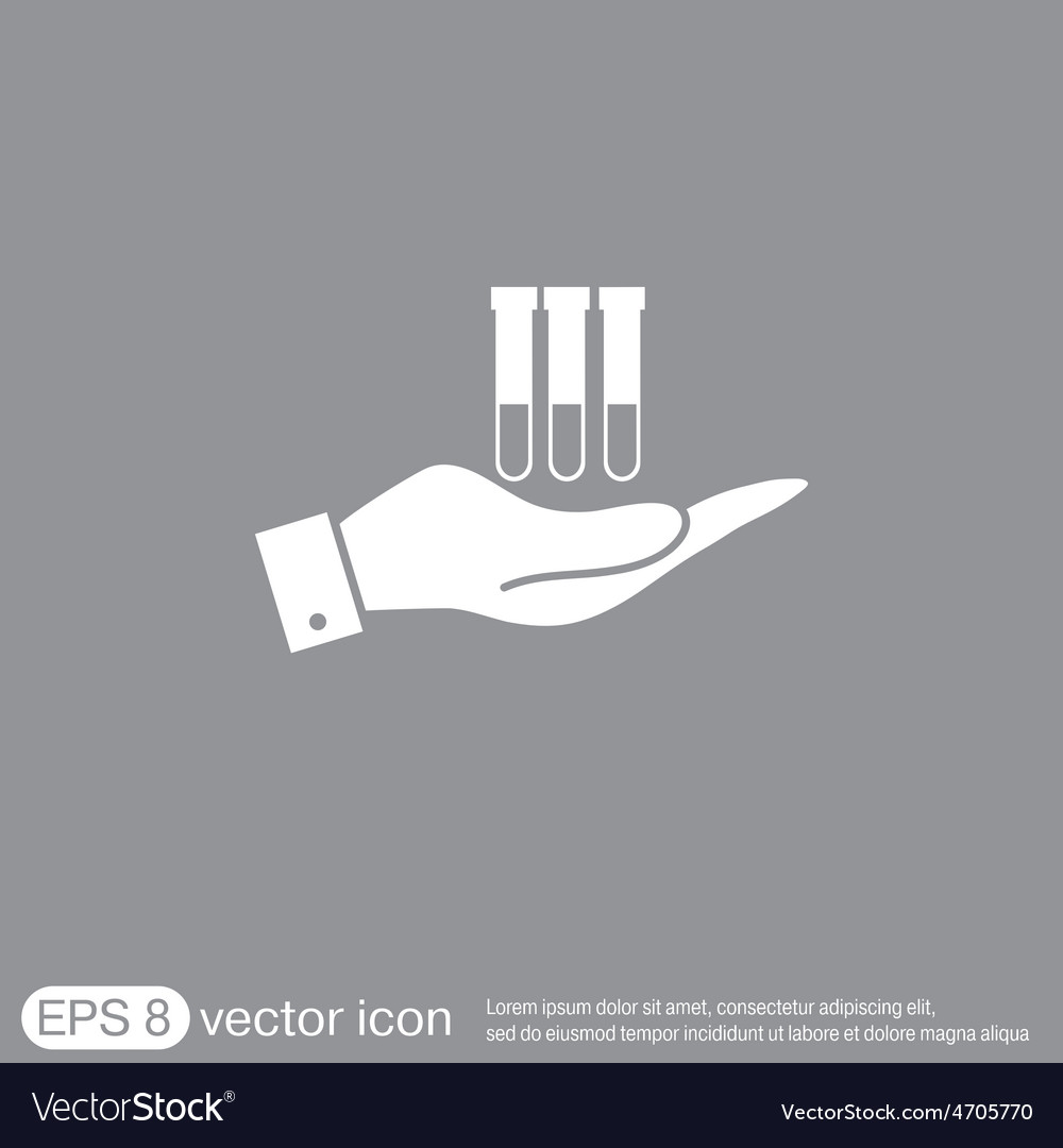 Hand holding a bulb or beaker vector | Price: 1 Credit (USD $1)