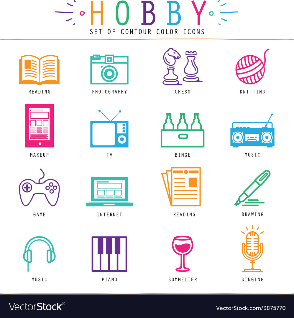 Hobby elements vector | Price: 1 Credit (USD $1)