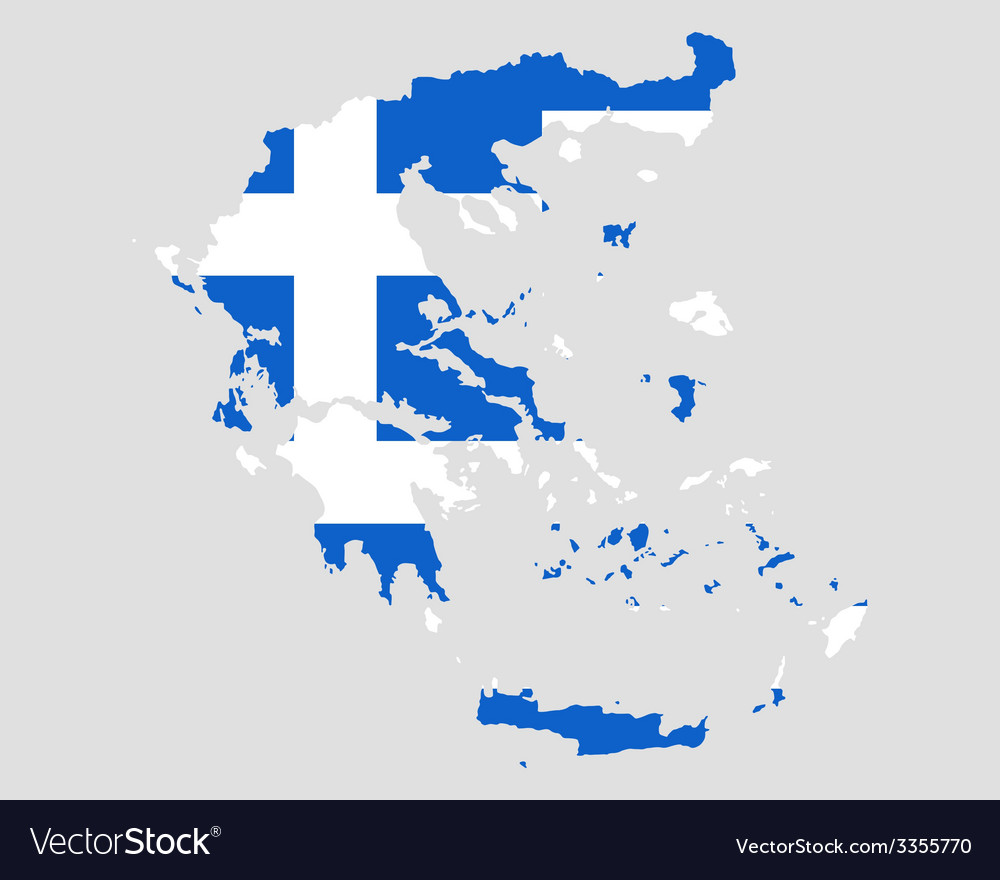 Map and flag of greece vector   Price: 1 Credit (USD $1)