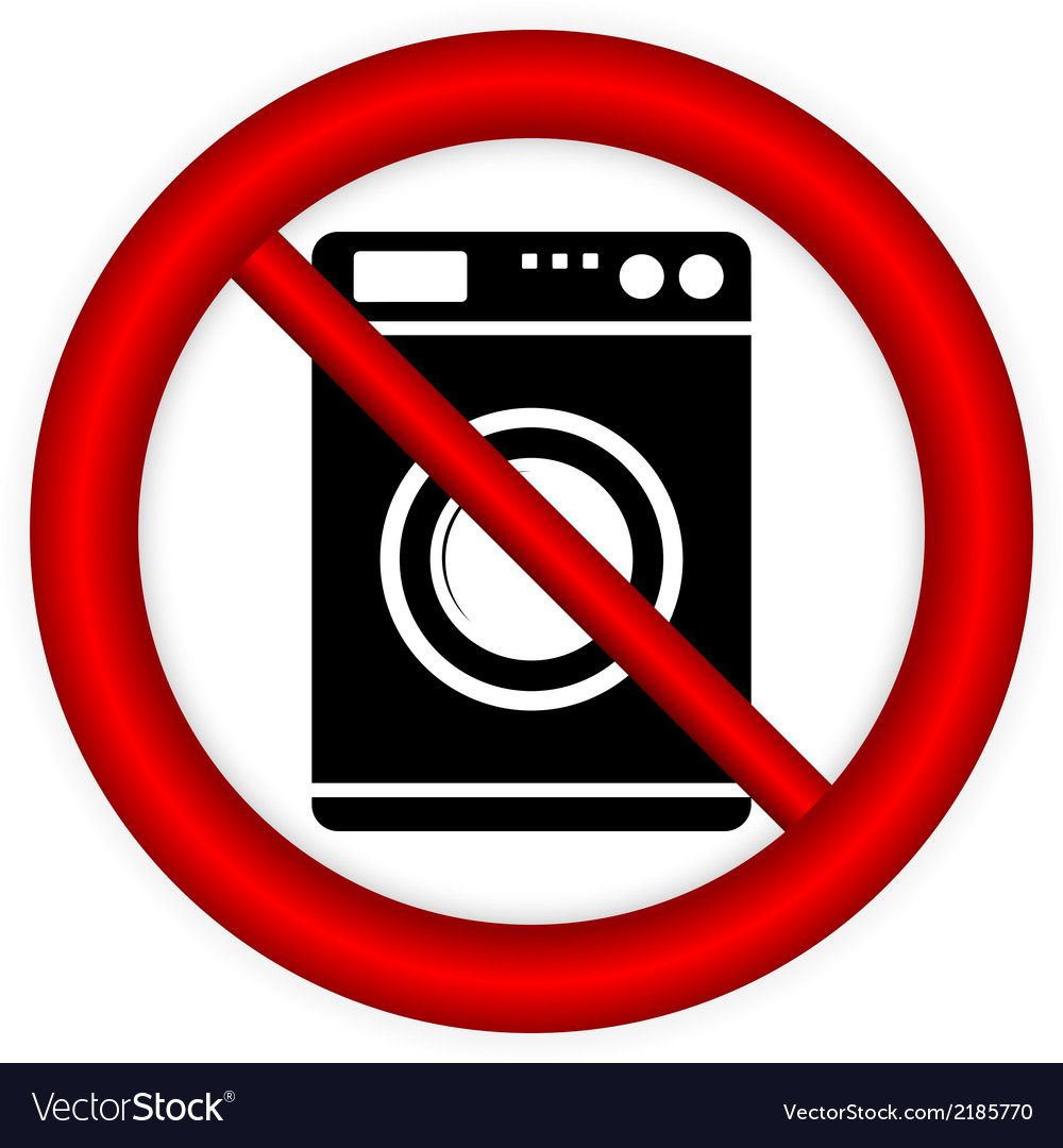 No washing machine sign vector | Price: 1 Credit (USD $1)