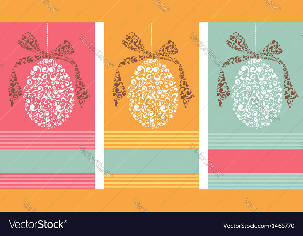 Tribal easter eggs background set vector | Price: 1 Credit (USD $1)
