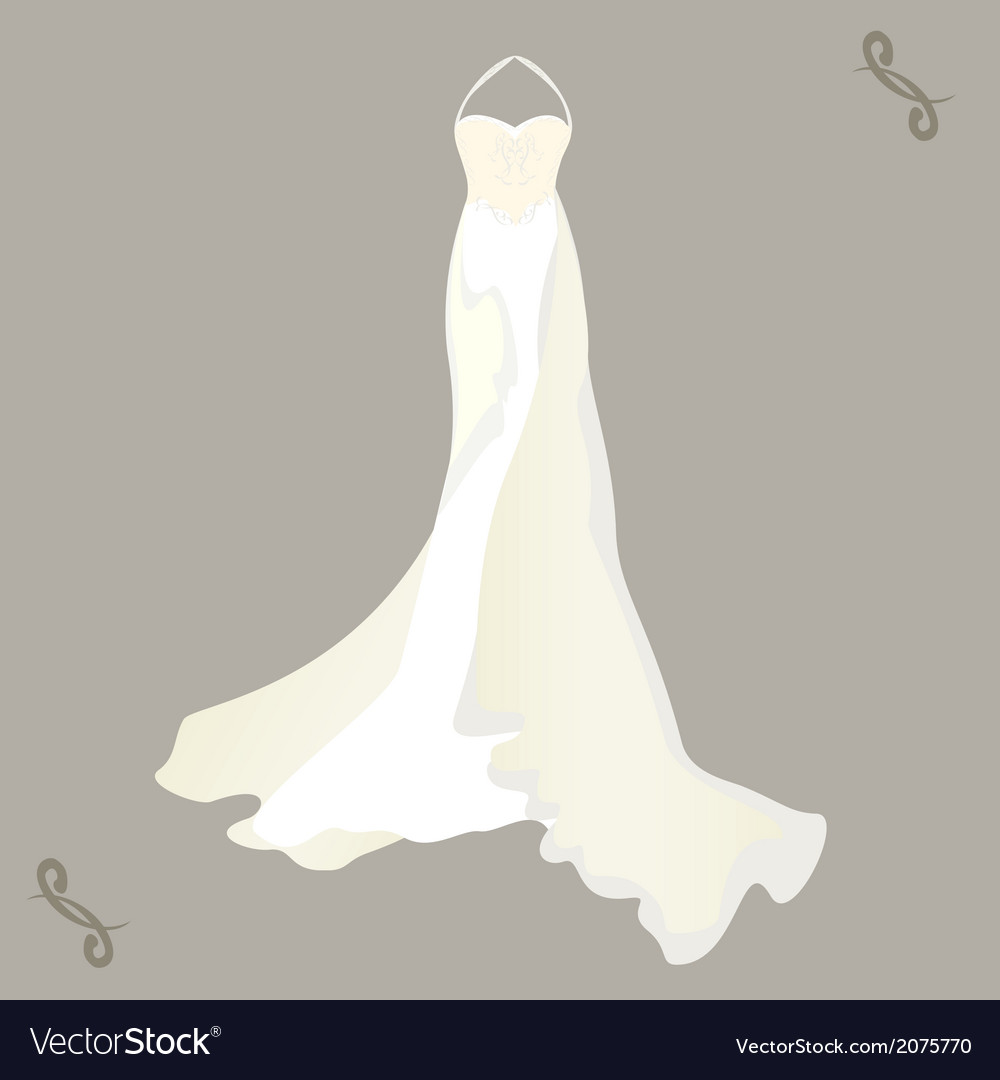 Wedding dress with a cape vector | Price: 1 Credit (USD $1)