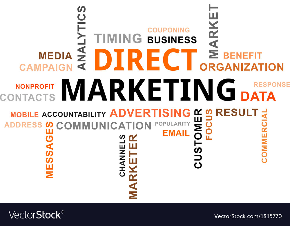 Word cloud direct marketing vector | Price: 1 Credit (USD $1)