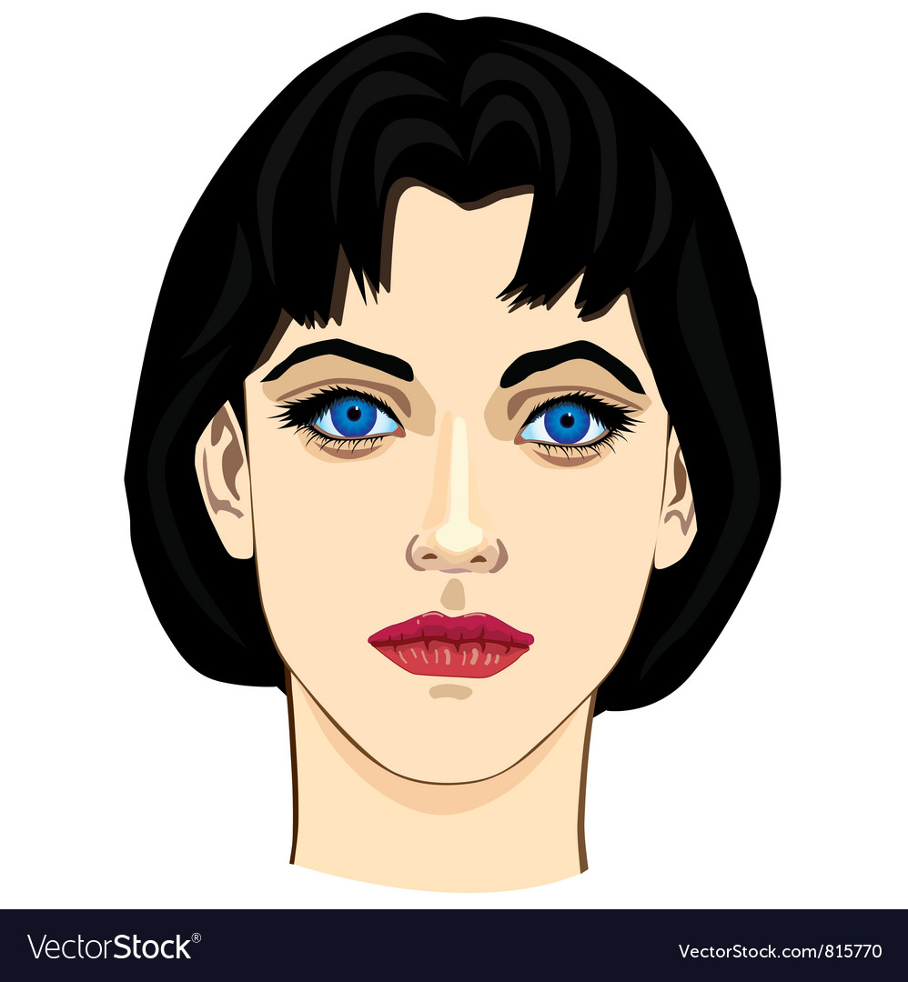 Young girl closeup vector | Price: 3 Credit (USD $3)