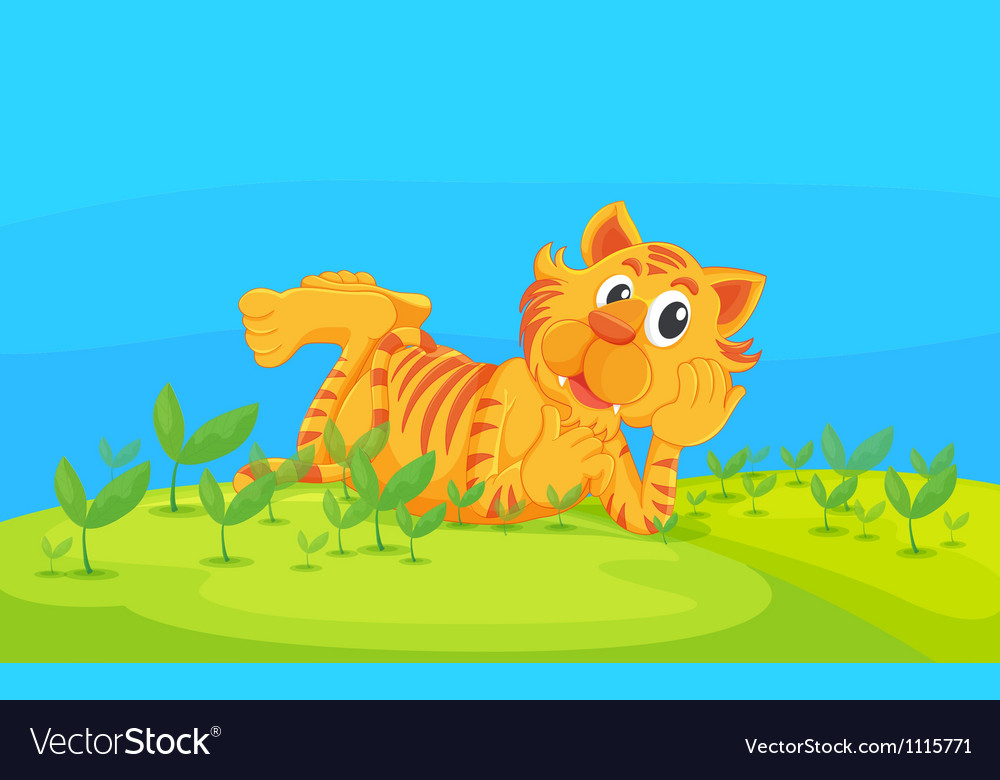 A lying tiger vector | Price: 1 Credit (USD $1)