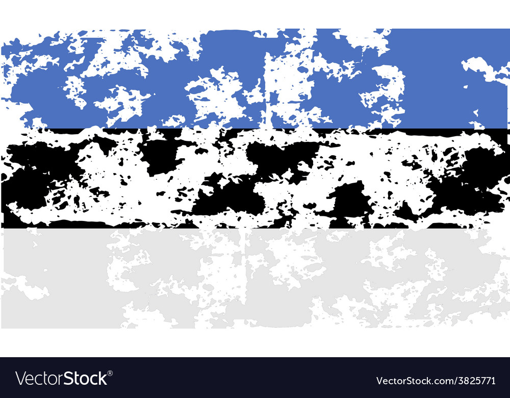 Flag of estonia with old texture vector | Price: 1 Credit (USD $1)